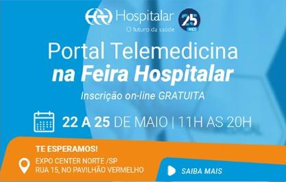 Banner promocional da Feira Hospitalar 22 a 25 de maio - Expo Center Norte