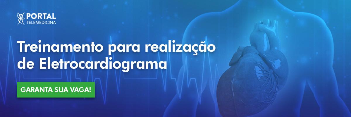 banner sobre treinamento para realização de eletrocardiograma da portal telemedicina